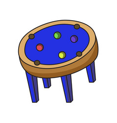 pool table circle table variation vector image