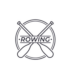 Rowing logo with oars vector