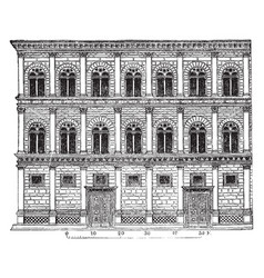 Rucellai palace creations of alberti form a class vector