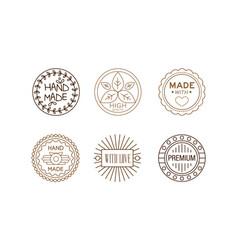 set of original logo templates for handmade vector image