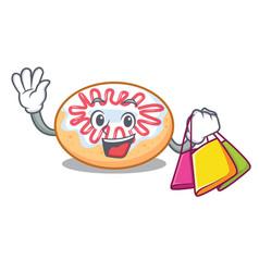 shopping jelly donut character cartoon vector image