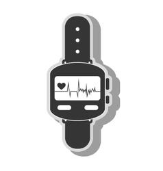 smart watch cardio icon vector image