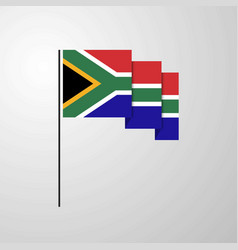 south africa waving flag creative background vector image