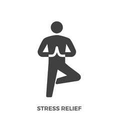 Stress relief glyph icon vector