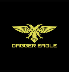 sword dagger eagle vector image