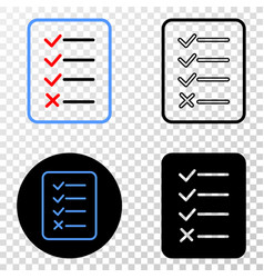 task list page eps icon with contour vector image