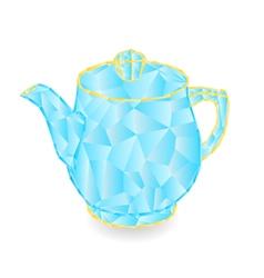 Teapot polygons part of porcelain vector