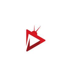 Tv logo design vector