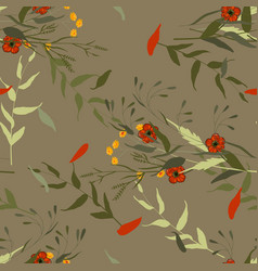 vintage background wallpaper hand drawn paradise vector image