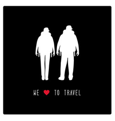 we love to travel1 vector image