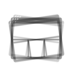 web window sign gray icon shaked at white vector image