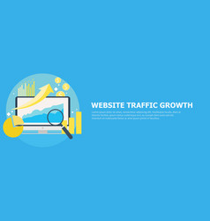 Website traffic growth banner vector