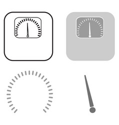 weights icon a set of several elements of arrows vector image