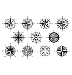 wind rose marine wind roses compass nautical vector image