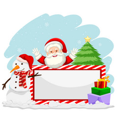 winter christmas with santa banner vector image