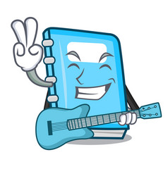 with guitar education mascot cartoon style vector image