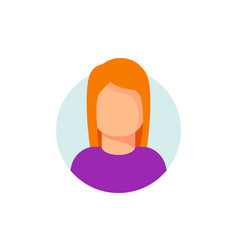 Woman face in circle icon vector