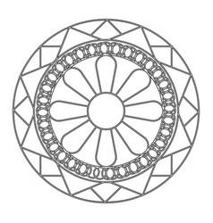 abstract cute mandala vector image