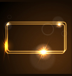 glow orange neon frame shiny template vector image vector image