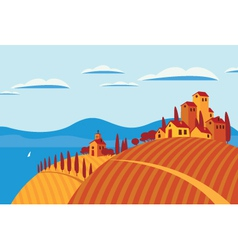 Landscape italy vector