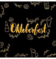 Oktoberfest Gold and Black Design vector image