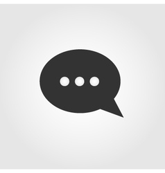Chat bubble icon flat design vector image vector image