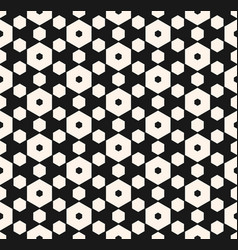 Dark hexagon seamless pattern with honeycomb vector