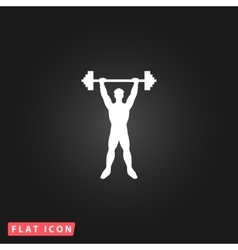 Strong man icon of fitness vector image