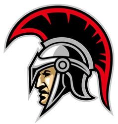 trojan army mascot vector image