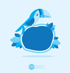 blue Bird Sign 3 vector image vector image