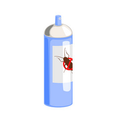 blue can of cockroach insecticide colorful vector image