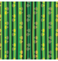 fabric green yellow shiny bright curtain with eye vector image vector image