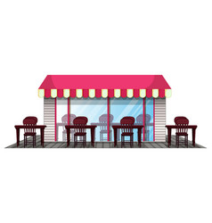 restaurant design with outdoor dining area vector image