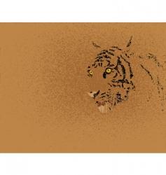 tiger grunge vector image vector image
