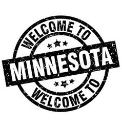 welcome to minnesota black stamp vector image