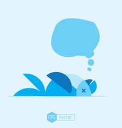 blue bird dead vector image vector image