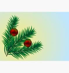 christmas branch vector image
