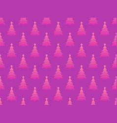 christmas tree seamless pattern retro style vector image vector image