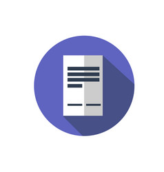 flat document icon folder with business files vector image vector image