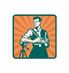 Retro Photographer Icon vector image