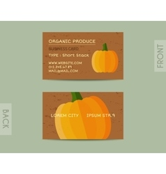 Summer Organic Farm Fresh branding identity vector image