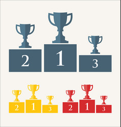 Trophy and awards retro vintage collection 4 vector