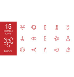15 model icons vector