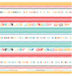a nursery geometric chevron stripe pattern vector image