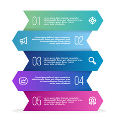 abstract 3d infographic template with a five steps vector image