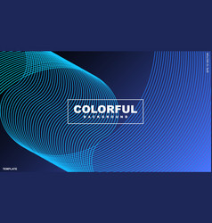 Abstract background design wavy lines vector