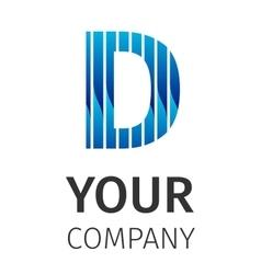 Abstract blue logo D vector