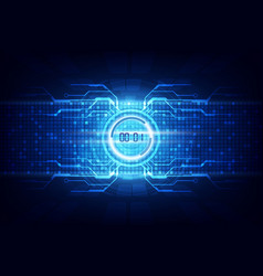 abstract futuristic technology background with vector image
