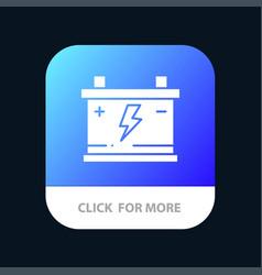 Accumulator battery power car mobile app button vector