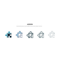 Addon icon in different style two colored vector